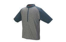 Schwinn Men Zip T heather/stoneblue